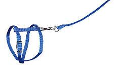 Blue Nylon Harness & Lead Set Rabbits Guinea Pigs 1.3 Meter Detachable Leash