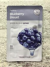 The Face Shop Real Nature Facial Mask Blueberry 3 Pack