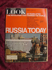LOOK October 3 1967 Russia Today Russian Furs Ann Turkel Jazz Norman Rockwell