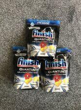 Finish Quantum Ultimate Dishwasher Tablets Lemon Sparkle, 3 x 50 Tabs = 150