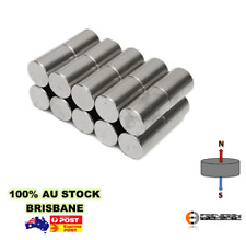 4x Strong 10mm x 20mm N42 | Cylinder Magnet | Neodymium Rare Earth Craft Model