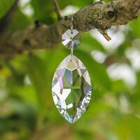 10PCS Clear Crystal Prisms Chandelier Lamp Hanging Window Decor Suncatcher 50mm