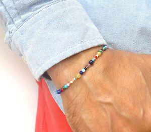 14k gold bead multicolored gemstone bracelet opal turquoise coral lapis saphhire