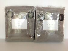 POTTERY BARN 2 EMERY LINEN/COTTON GROMMET DRAPES 50X108 COTTON LINING GRAY NEW
