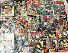 SUB-MARINER#52-71 VG-VF LOT 1972-74(15 BOOKS) MARVEL BRONZE AGE COMICS