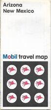 1968 MOBIL OIL COMPANY Road Map ARIZONA NEW MEXICO Route 66 Phoenix Santa Fe