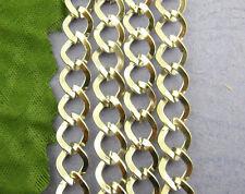 2.5M Chaîne maille Cheval Bijoux Création Accessoires 9x7mm