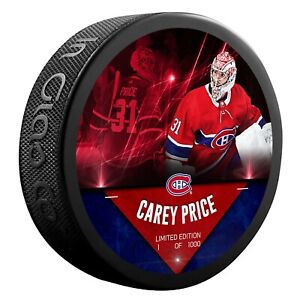 Carey Price Montreal Canadiens Unsigned Fanatics Player Hockey Puck NHL