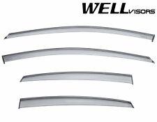WellVisors For 12-16 Dodge Dart BLACK Trim Side Window Visors Rain Deflector