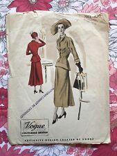 VOGUE COUTURIER DESIGN 420 sewing pattern 1948 COMPLETE vintage Dress 1940s