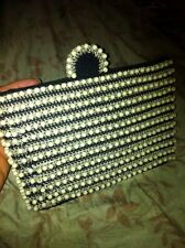 Vintage Purse Hiawatha Handi-Bag Crocheted Beaded Clutch