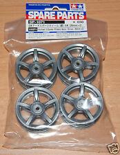 Tamiya 51071 Arched 5-Spoke Wheels 4 Pcs. (Silver, 26mm/+2) Carrera GT/Fairlady