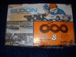 ELDON CIRCUIT DOUBLE 8 SLOT CAR SET