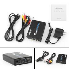 3 RCA AV+S-Video CVBS Composite R/L Audio to HDMI 1080P Converter US Plug P CA