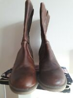 Bnwt Next  brown Leather Cowboy Style Biker Boots Size 6.5 EU 40