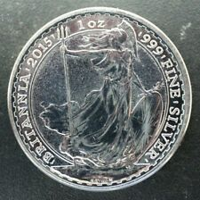 2015 UK Britannia Silver 1 oz 0.999 Raw