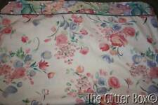 Shabby Cottage Chic Watercolor Floral Twin Flat Bed Sheet Fabric Material L2