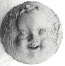 """Handmade """"World Baby,"""" Mask-Style Wall Sculpture Home Decor Accent by Claybraven"""