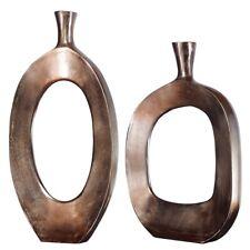 Uttermost Kyler Textured Bronze Vases Set of 2 - 18965