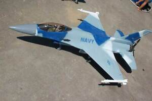 Top gun F-16N Fighting Falcon  R/C Airplane Rare kit by Combat Models Df or prop