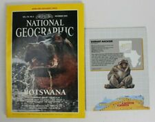 National Geographic 1990 December Botswana plus Map of Africa
