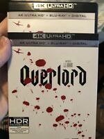 Overlord (4K UHD + Bluray) No digital. With Slip Cover. Free Shipping.