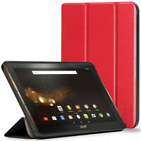 Acer Iconia Tab 10 A3-A40 Case, Stand, Protective Smart Cover | Red
