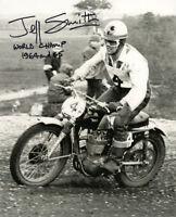JEFF SMITH SIGNED 8x10 PHOTO + WORLD CHAMP BRITISH MOTOCROSS LEGEND BECKETT BAS