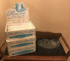Vintage Federal Homestead Snack Set For Four  NOS  3 Available
