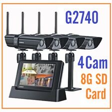 UNIDEN G2740 Guardian Digital Wireless Surveillance System Quad Camera system