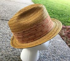 Vintage Donna Fifth Avenue New York Fedora Hat Size 7 1/8 Grabber