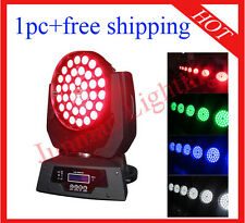 1pc 36*10W RGBW 4 in 1 Led Zoom Moving Head Light Wash Lighting Free Shipping