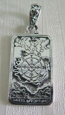 FORTUNE TAROT DOG TAG STERLING 925 SILVER PENDANT