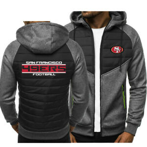 San Francisco 49ers Hoodie Classic Autumn Hooded Sweatshirt Jacket Coat Top Tops