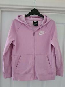 Girls Pale Pink Nike Zip Up Hoodie Age 11-12
