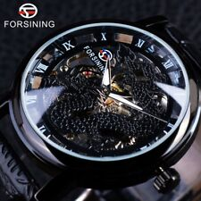 Forsining Chinese Style Design Men Watch Skeleton Hand Wind Mechanical Watch New