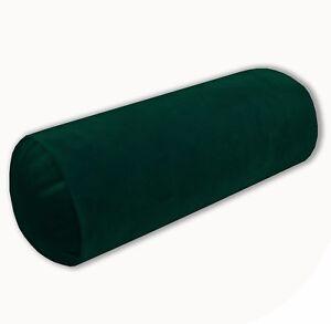 Mf42g Green Soft Smooth Microfiber Velvet Bolster CASE Yoga Neck Roll COVER Size