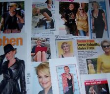 Sharon Stone 68 pc German Clippings Collection