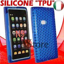 Cover Custodia Per Nokia N9 Blu Gel Silicone TPU Case Diamond Blue Dark