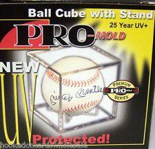 Case 36 Pro-Mold Baseball Cube Square Display Holder 25 Year UV Safe #PCBSQ3UV25