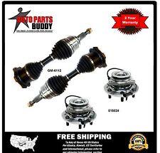 2 New Front Axles -2 Front Wheel Hub Units (6 stud)  GM Truck 4X4 2 Yr Warranty