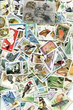 BIRD STAMP COLLECTION - OVER 300 DIFFERENT - NO DUPLICATES - NO DAMAGED OR HINGE