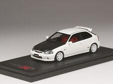 MARK43 PM4340CW 1:43 HONDA Civic TypeR EK9 carbon bonnet custom color White