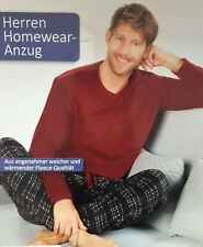 Herren Hausanzug Homewear Schlafanzug Anzug Pyjama 2 Teiler M L XL