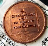 45mm The Maurice Apfelbaum Award for Excellence in Stamp Collecting Copper Coin