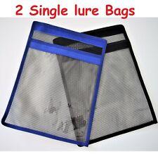 2 pcs Fishing Lure Bag - Single Pocket Lure Bait jig Trolling Bag Blue & Black
