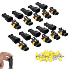 10 Kits 2 Pin-Way Sealed Waterproof Electrical Wire Connector Plug Car Auto Set