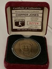 Chipper Jones HIGHLAND MINT HOF Bronze Coin Atlanta Braves Medallion Baseball