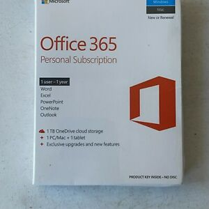 Microsoft Office 365 1 PC Or Mac + 1 Tablet 1 User-1 Year Personal Subscription