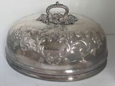 19th c. ENGLISH SILVER PLATE LARGE AND FANCY MEAT DOME